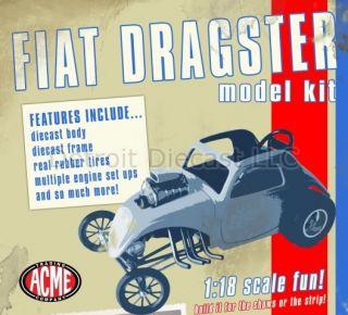 18 Acme 1940s Altered Fiat Dragster Diecast Model Kit