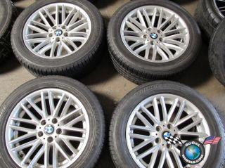 four 02 08 BMW 745 750 760 Factory 18 Wheels Tires OEM Rims