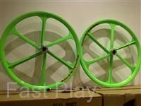 This listing is for a PAIR (front & rear) of Alloy Mag Wheels 26 inch
