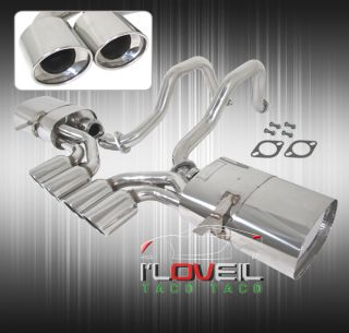 1997 2004 Chevy Corvette C5 Z06 Catback Exhaust System Stainless Steel