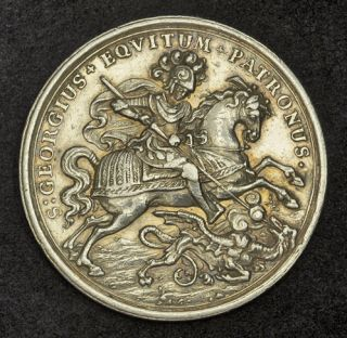 1780, Kindom of Hungary. Large Silver St. George Show Thaler Coin. R