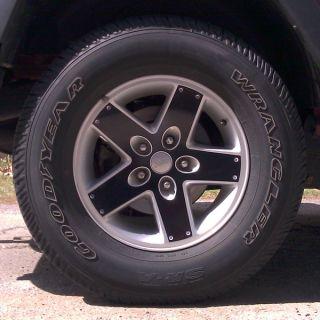 Black Wheel Overlay Stickers 07 11 Jeep Wrangler JK Unlimited 2 4 Door