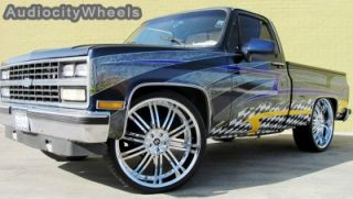 24inch Wheels Tires Chevy Tahoe RAM Escalade Rims