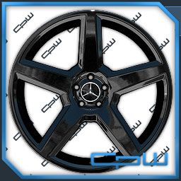 22 inch Mercedes Benz Black Wheels Rims Tire Package S550 CL550 550