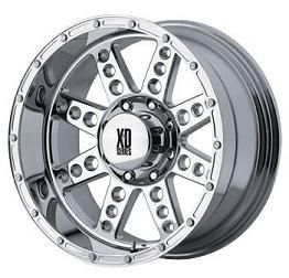 XD Diesel Chrome 22x11 Chevy GMC Ford Dodge Jeep H2