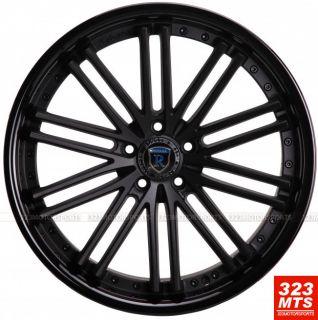 20 Rohana RC20 Rims BMW 3 Series Wheels Staggered MTBLK