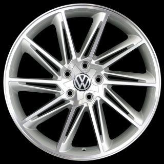 19 VW Jetta Passat CC Golf GTI EOS Wheels 5x112 19x8 5 Silver Machine