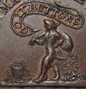 1863 KNICKERBOCKER $ Money Makes the Mare   Go It Buttons CIVIL WAR