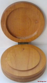Vintage Wood Double Hamburger Press Chick Rooster Decor Pattie Mold