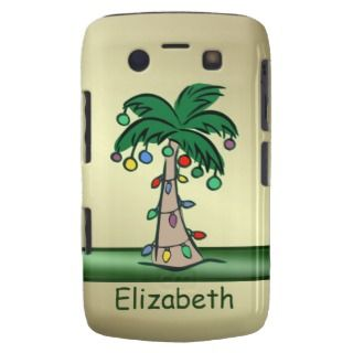 Personalized Tropical Christmas Palm Tree Blackberry Bold Case