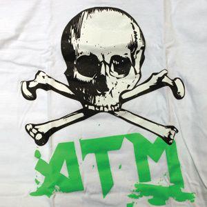 ATM Neon Skull Skateboard T Shirt Skateboards s XL New