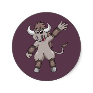 Minotaur Waves Hello Sticker