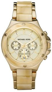 New Michael Kors MK5449 Acetate with Gold Tone Ladies Watch Original