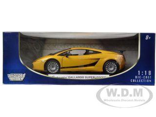 Lamborghini Gallardo Superleggera Yellow 1 18 Diecast Model Car