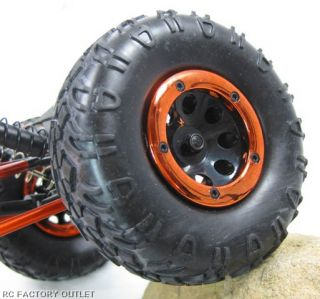 Huge Rock Crawler Tyres with Alloy Outer Secured by 7 Hex Screws