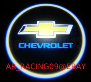 2X Chevrolet Chevy Logo Door Courtesy LED Laser Projector Shadow