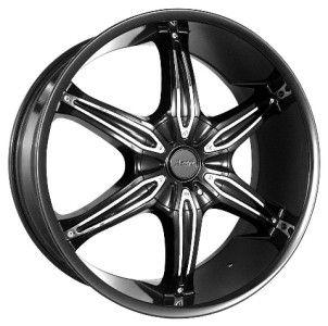 20 inch Azari 282 Black Wheels Rims 5x4 5 Grand Vitara Camry Matrix