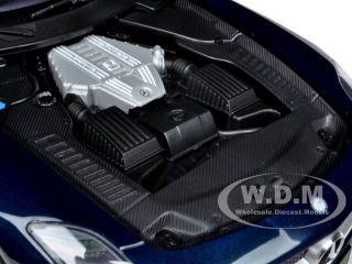 2010 Mercedes SLS AMG 6 3 Metallic Blue 1 18 by Minichamps 100039021