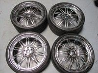 S63 S65 22 Wheels Tires Rims Chrome 3pc Giovanna 08 12 CL T