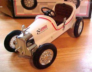 RARE White Lennox Motorsports Racer Pedal Car Bank