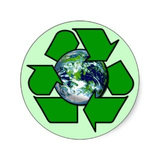 Recycle for Planet Earth Round Sticker