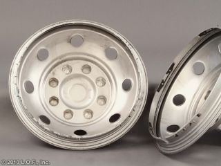 74 91 Chevy 16 x 6 Stainless Dually Wheel 8 Hand Simulators Liners 8