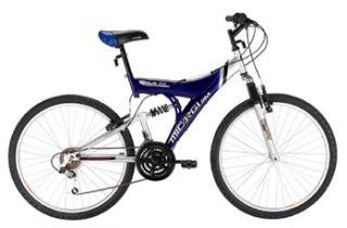 26 18 Speed Mountain Bike MTB Full Suspension Bicycle Blue