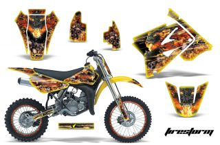 AMR Racing Dirt Bike Number Plate Background Deco MX Wrap Suzuki RM 85
