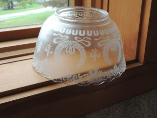 Antique Victorian Glass Gas Lamp Shade Globe for Ceiling Fixture