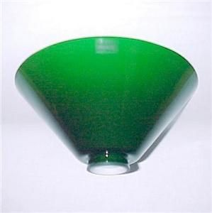 Italian Green Glass 2 25 x 10 Cone Light Lamp Shade New Pendant Floor