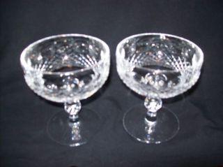 Waerford Crysal Colleen Waer Champagne Sherbe Glasses Beauiful