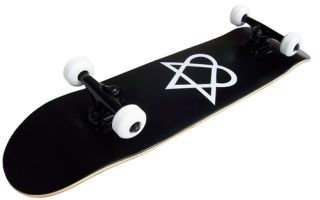 Heartagram Skateboard New Pro Complete Black ABEC 7
