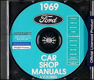 1969 Lincoln Continental and Mark III Shop Manual CD Repair Service 3