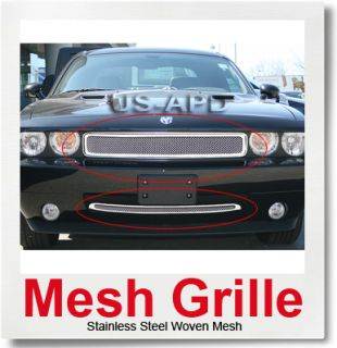 09 10 Dodge Challenger Stainless Steel Mesh Grille Combo