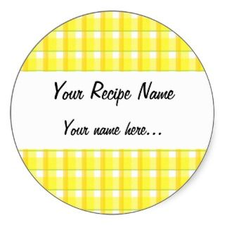 Country Yellow Checks Custom Canning Jar Labels Sticker