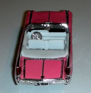 Estee Lauder Collectible Pink Enamel Crystal Las Vegas Car Compact