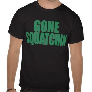 Original & Best Selling Bobo GONE SQUATCHIN Green Tee Shirts