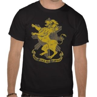 Philippine Lion Sun Flag Coat of Arms Vintage Shirts