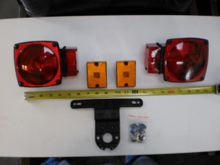 Trailer camper Box Stop Turn Tail Light Set Kit
