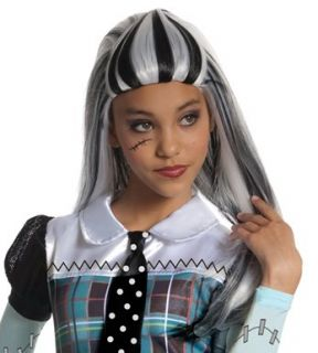 Monster High Frankie Stein Child Wig Dress Up Costume New