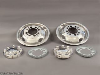 Chevy Ford Dodge 16 16 5 x 6 Stainless Dually Wheel Simulators Liners