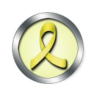 Yellow Ribbon Support Our Troops sticker