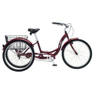 Schwinn Meridian Red 26 Adult 3 Wheel Bike Tricycle