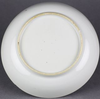 Antique Chinese Canton Famille Rose Boy at Window Saucer Dish 18th C