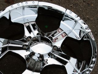 Panther Realm 280 22 Chrome Rims Wheels Suburban Avalanche 8 Lug