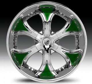 26 Lexani Dial Tires 5 6 Lug Escalade Navigator Chrome