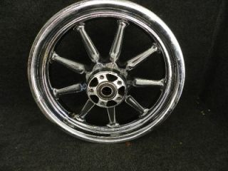 Harley Davidson Touring Conastoga 9 spoke front wheel rim 16x3 chrome
