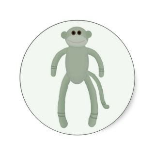Sock Monkey Stickers