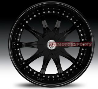 20 Lexani CS2 Full Black Rims Wheels Toyota Audi