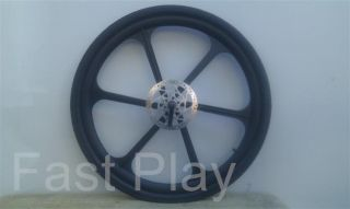 Composite Mag Wheels Pair 6 Spoke Disc Brake Rim Black White